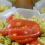 Scodelline di cous-cous verde e rosso