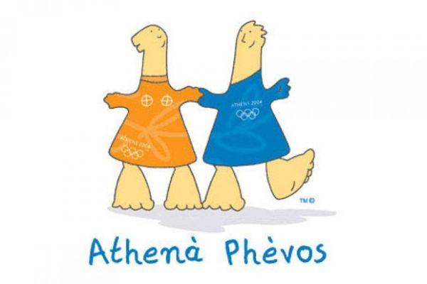mascotte Athena e Phevos 2004