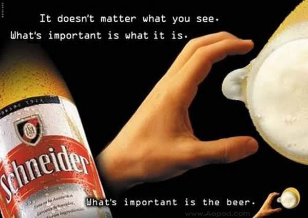 pubblicità birra Schneider