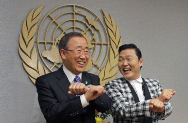 Ban Ki-Moon balla Gangnam Style 1