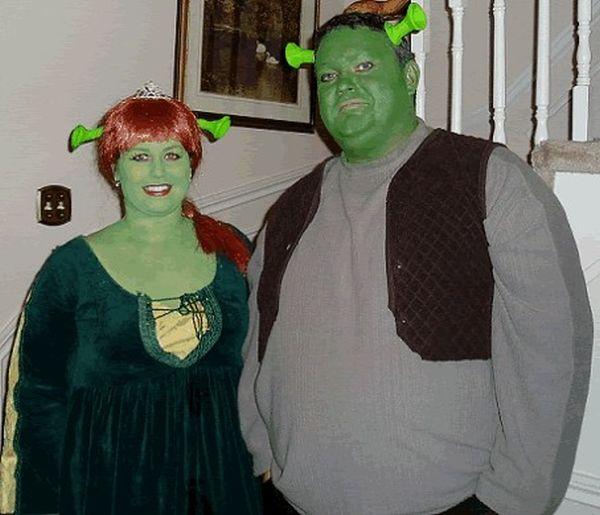Costume Shrek e Fiona