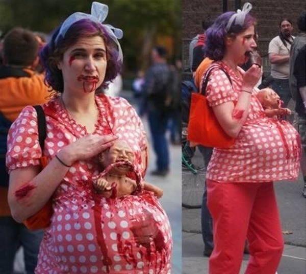 Halloween: bimbo zombie