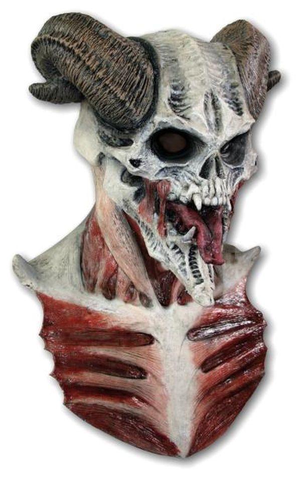 Maschera cranio diavolo