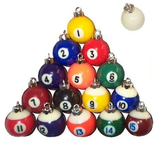 Palle di Natale biliardo