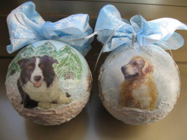 Palle di Natale con cani
