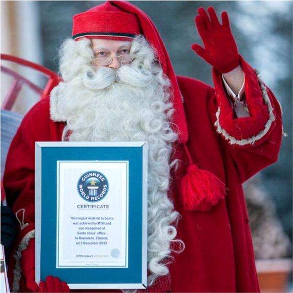 Lista desideri da record per Babbo Natale