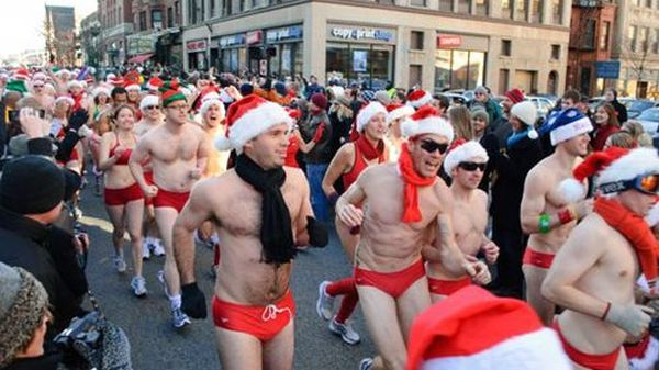 santa speedo run 1