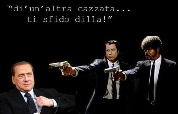 Berlusconi minacciato da Pulp Fiction