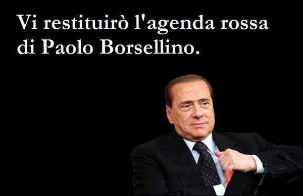 Berlusconi restituisce agenda rossa