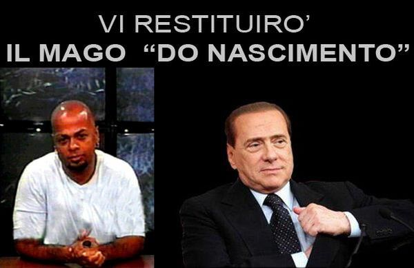 Berlusconi restituisce do nascimento