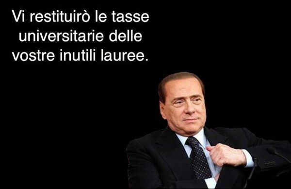 Berlusconi restituisce tasse universitarie