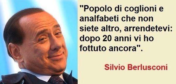 Berlusconi: ho fottuto italiani