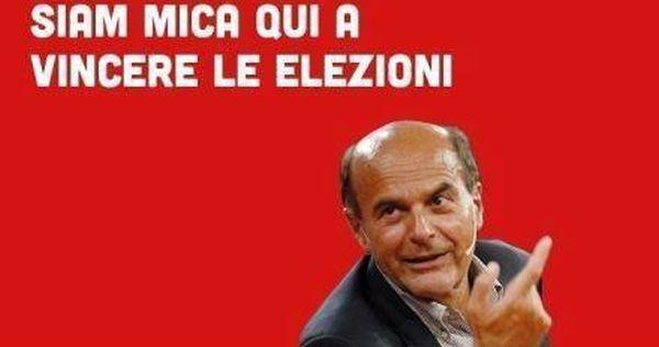 Bersani: non si vince