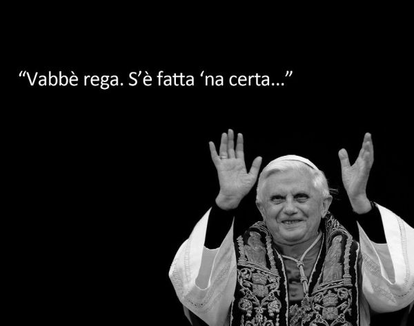 Il saluto del Papa