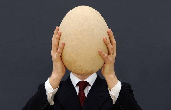 Uovo piu grande di un viso