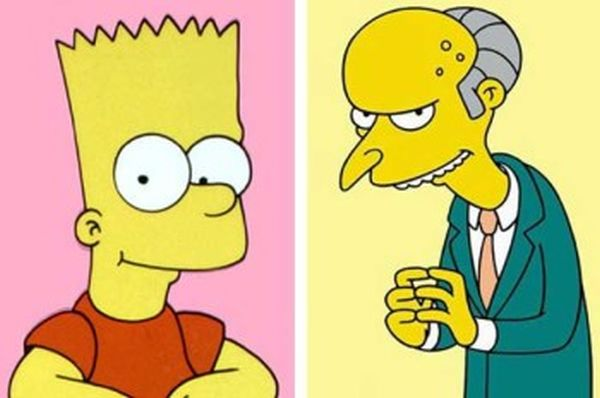 Bart Simpson e Mr. Burns