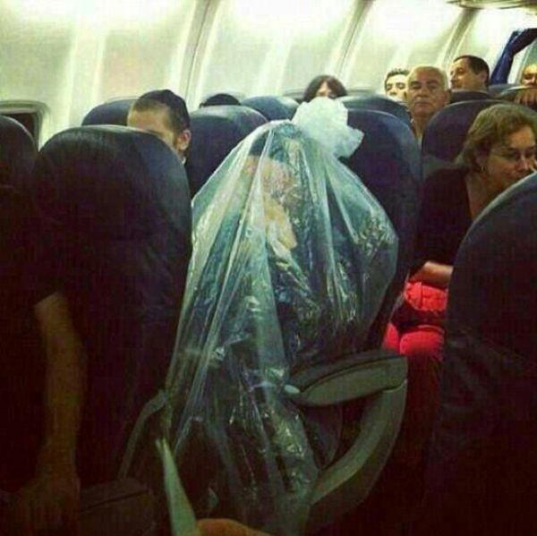 Ebreo in sacchetto di plastica