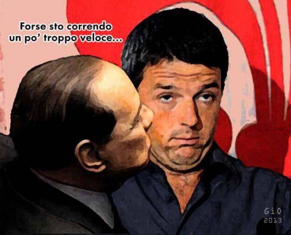 Renzi-Berlusconi: bacio