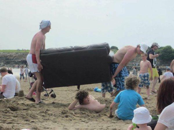 Divano in spiaggia