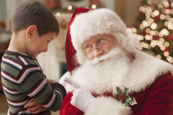 Babbo Natale e bambino