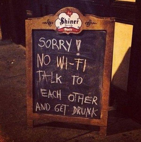 Cartello No Wi-Fi