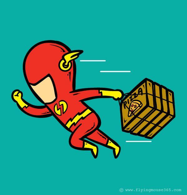 Flash Gordon-consegna pizze