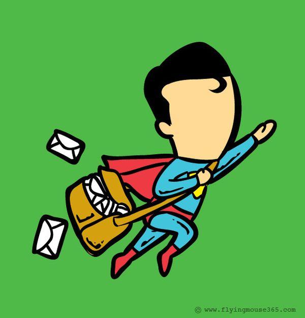 Superman-postino