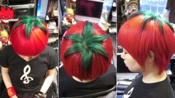 taglio di capelli a pomodoro