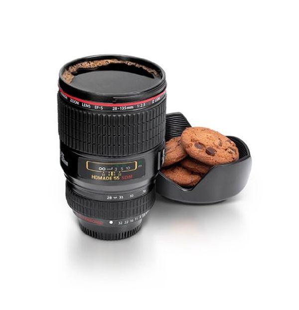 Tazza a forma obiettivo macchina fotografica