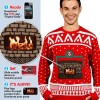Knitted Crackling Fireplace Ugly Christmas