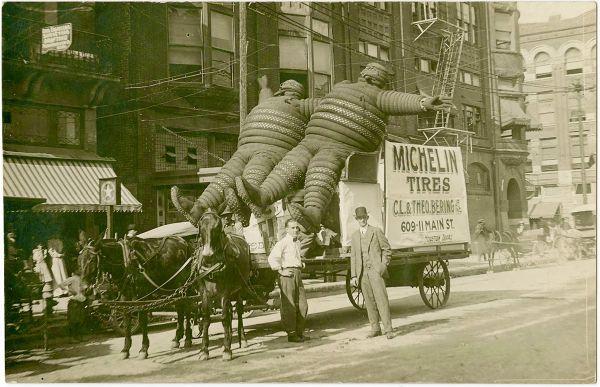 Omino Michelin: cartolina 1904