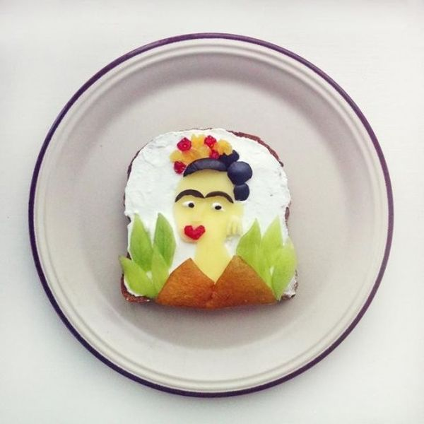 Toast Frida Kahlo autoritratto