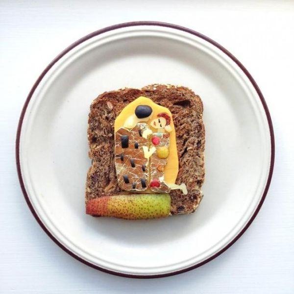 Toast Gustav Klimt Il bacio