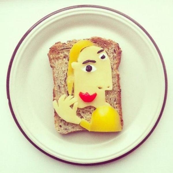 Toast Pablo Picasso pane e formaggio