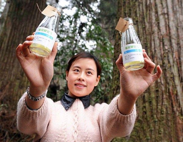 Bottiglie di aria pulita