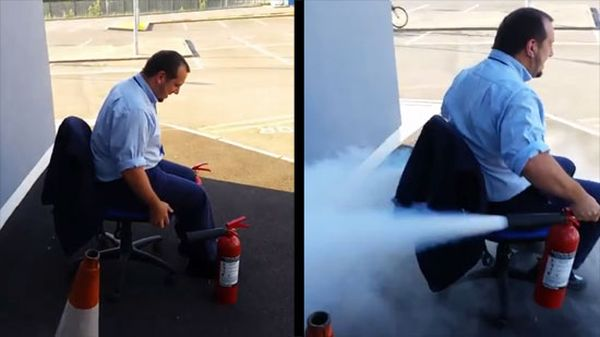 fire extinguisher ride fail