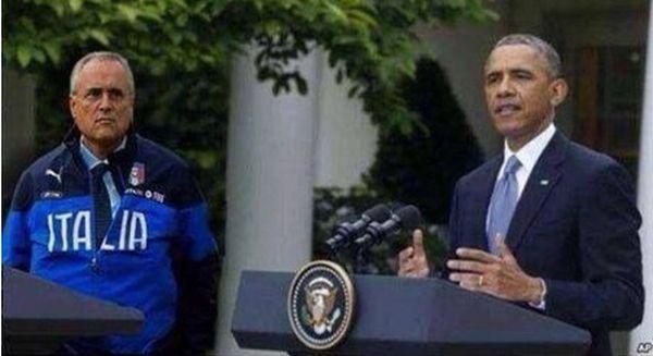 Lotito con Obama