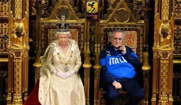 Lotito con regina Elisabetta