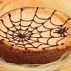 Cheesecake di zucca con ragnatela