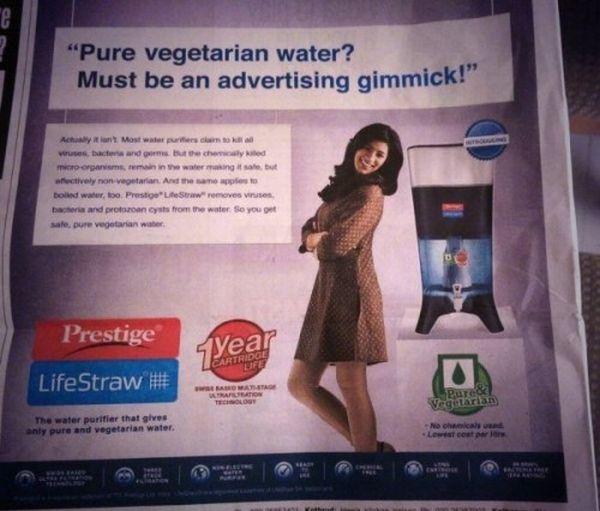 pubblicita acqua vegana