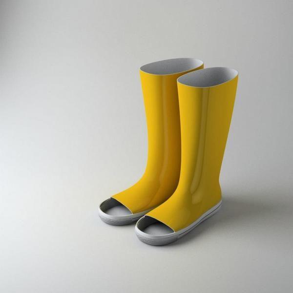 stivali da pioggia punta aperta