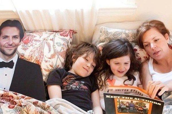 Danielle e sagoma Bradley Cooper: favole ai bambini