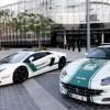 Lamborghini e Ferrari polizia Dubai