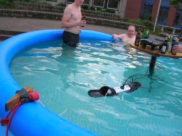 prese elettriche in acqua