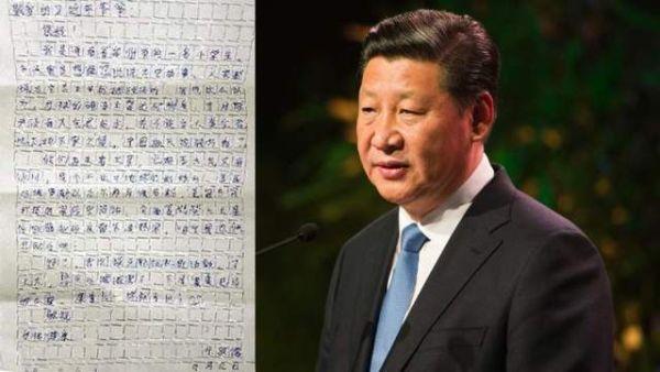 lettera di un bambino al presidente cinese