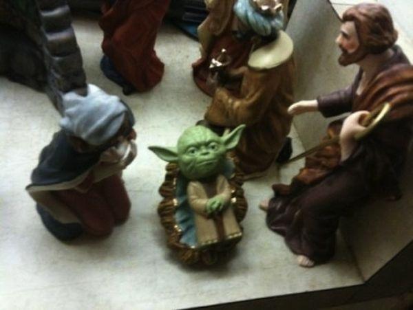 presepe con Yoda