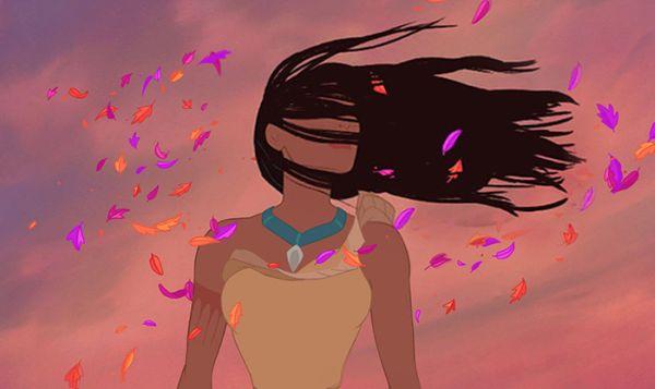 acconciature principesse: Pocahontas spettinata