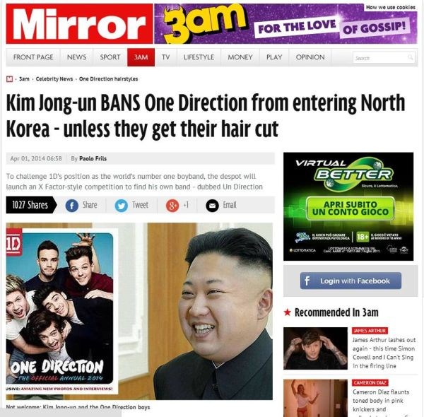 Kim Jon-un e gli One Direction