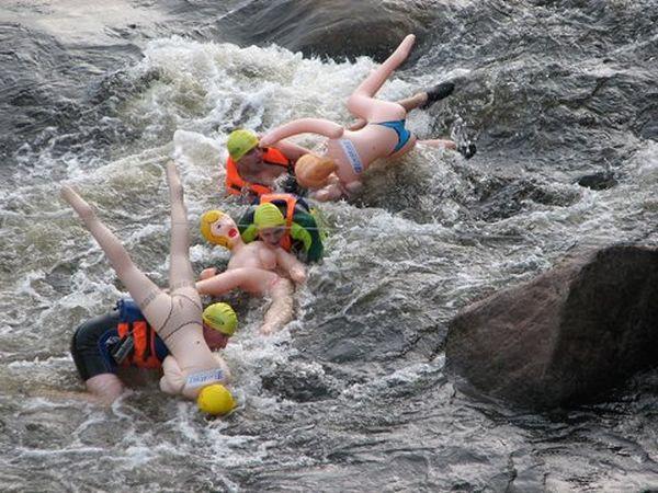 rafting su donne gonfiabili