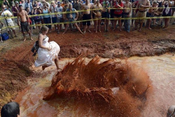 spanciata nel fango